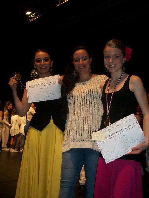 Camille et Marion font carton plein au concours de la CND